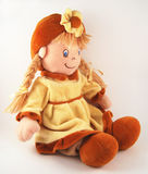Boneca de pano, boneca da tela Foto de Stock