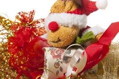 Boneca de Papai Noel um presente do Natal Imagens de Stock Royalty Free