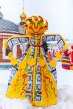 Boneca de Shrovetide do russo para queimar-se Imagens de Stock