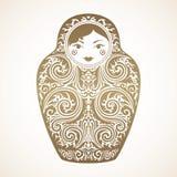 Boneca decorativa Boneca do assentamento do russo Imagem de Stock Royalty Free