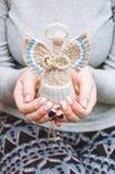 Boneca do anjo de matéria têxtil fotos de stock royalty free