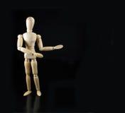 A boneca do Humanoid diz algo Fotos de Stock Royalty Free