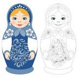 Boneca do matryoshka do russo ilustração do vetor
