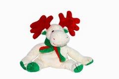 Boneca do Natal no fundo branco, lembrança do Natal - X'MAS Doll isolado no fundo branco Fotografia de Stock
