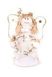 Boneca do Natal um anjo no branco fotos de stock royalty free