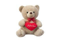 Boneca do urso de Brown bonito fotografia de stock royalty free