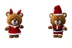 Boneca do urso do Natal imagens de stock