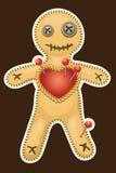 Boneca do Voodoo. Boneca terrível do voodoo da mágica preta. Ilustração do Vetor