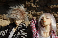 Boneca dois de junta articulada com cabelo de vibração Imagens de Stock