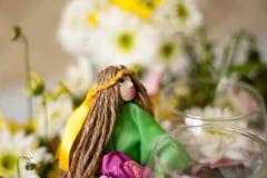 Boneca feito à mão do verão imagem de stock