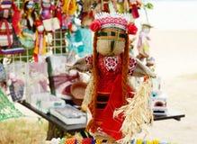Boneca feito a mão ucraniana tradicional - motanka Fotos de Stock