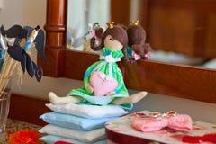 Boneca Handmade da princesa fotografia de stock