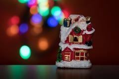 Boneca iluminada do boneco de neve foto de stock