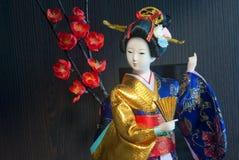 Boneca japonesa da gueixa foto de stock