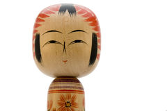 Boneca japonesa no fundo branco Fotografia de Stock