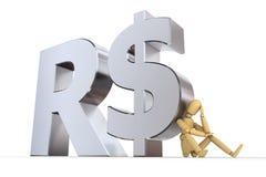 Boneca no símbolo real brasileiro Imagem de Stock