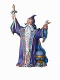 Boneca pintada mão do feiticeiro fotografia de stock royalty free