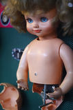 Boneca quebrada Fotografia de Stock Royalty Free