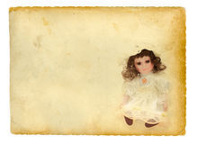 Boneca velha fotografia de stock
