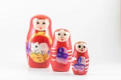 Boneca vermelha do russo Imagem de Stock Royalty Free