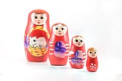 Boneca vermelha do russo Imagem de Stock