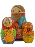 Bonecas aninhadas avô, avó e galinha Foto de Stock