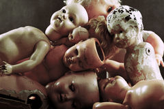 Bonecas assustadores Imagem de Stock Royalty Free