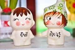 Bonecas cerâmicas Fotografia de Stock Royalty Free