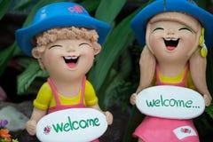 Bonecas da cerâmica Foto de Stock