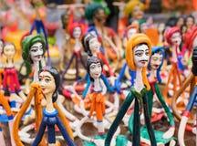 Bonecas da terracota, artesanatos indianos justos em Kolkata Fotos de Stock