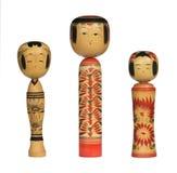 Bonecas de Kokeshi Imagens de Stock