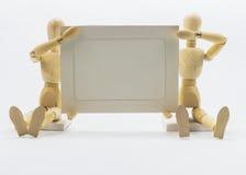 Bonecas de madeira Fotografia de Stock
