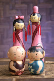Bonecas de madeira bonitos Fotos de Stock Royalty Free