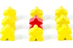 Bonecas de madeira coloridas Fotografia de Stock Royalty Free