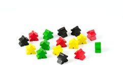 Bonecas de madeira coloridas Fotos de Stock