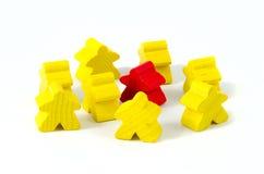 Bonecas de madeira coloridas Foto de Stock Royalty Free
