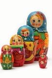 Bonecas de Matryoshka no fundo branco Imagem de Stock Royalty Free