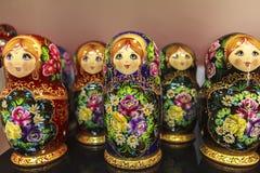 Bonecas de Matryoshka, Rússia Imagens de Stock