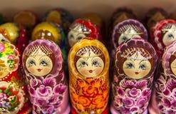 Bonecas de Matryoshka, Rússia Imagens de Stock Royalty Free