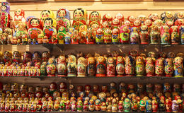 Bonecas de Matryoshka, Rússia Fotografia de Stock Royalty Free