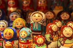 Bonecas de Matryoshka, Rússia Fotografia de Stock