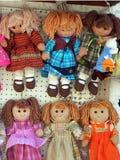 Bonecas de pano Imagens de Stock