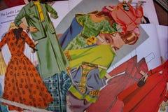 Bonecas de papel do vintage Fotografia de Stock