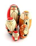 Bonecas do assentamento de Santa Matryoshka Foto de Stock