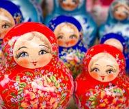 Bonecas do assentamento do russo Fotografia de Stock
