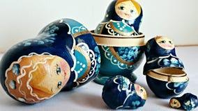 Bonecas do assentamento do russo Foto de Stock Royalty Free