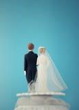 Bonecas do bolo de casamento imagem de stock
