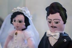Bonecas do casamento do ofício Foto de Stock Royalty Free