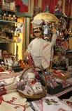 Bonecas do marionete na loja de Lyon Fotografia de Stock Royalty Free