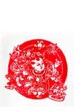 Bonecas e dança do dragão Imagem de Stock Royalty Free